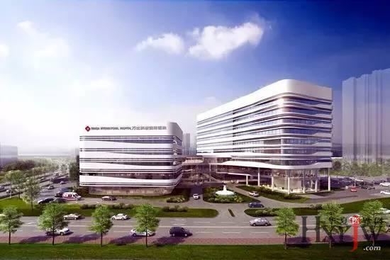 > 其它     青岛万达英慈国际医院建筑设计灵感来自于大海,流线型的